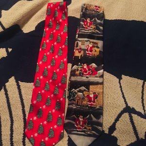 2 Christmas Ties